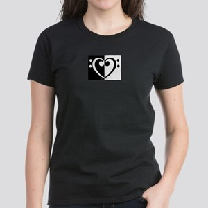 Bass Heart Music Women's Dark T-Shirt
