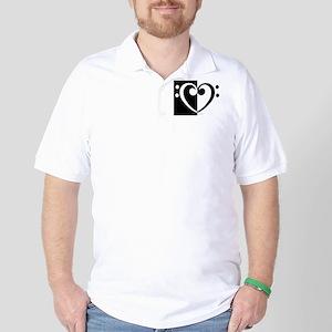 Bass Heart Music Golf Shirt