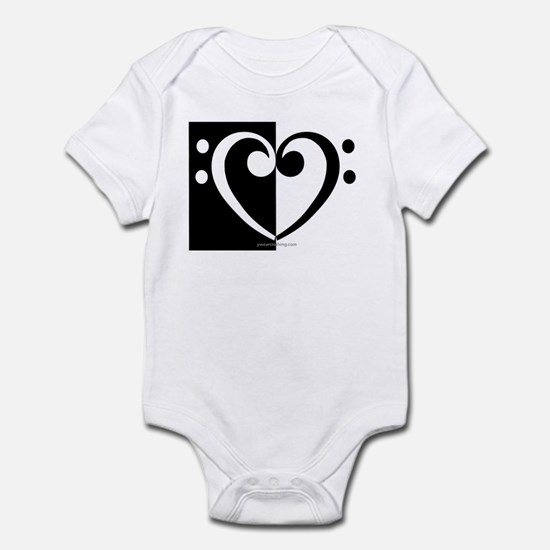 Bass Heart Music Infant Bodysuit