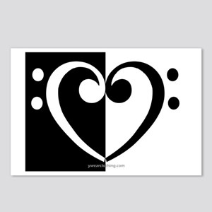 Bass Heart Music Postcards (Package of 8)