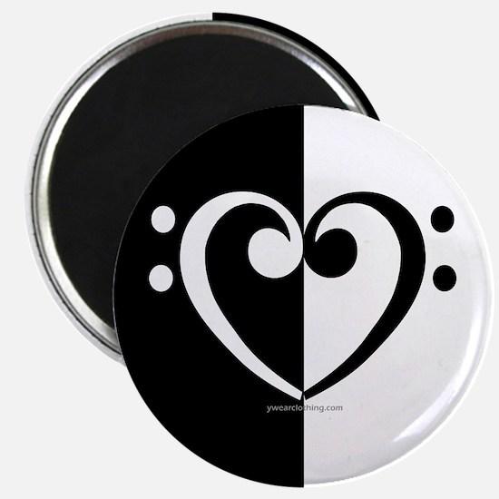 Bass Heart Music Magnet
