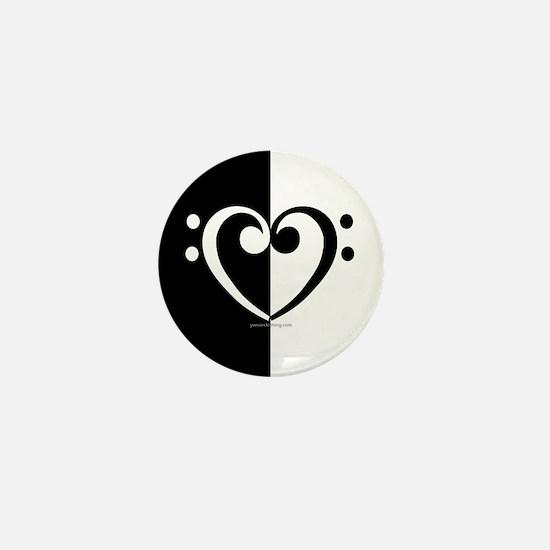 Bass Heart Music Mini Button