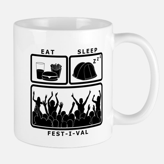 Eat Sleep Festival (black) Mug