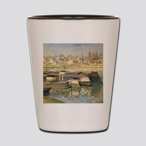 Seine at Asnieres by Claude Monet Shot Glass