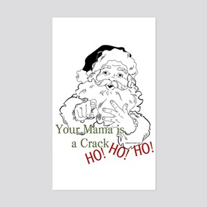 Santa Crack HO Rectangle Sticker
