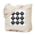 Masonic 9 tiles Tote Bag