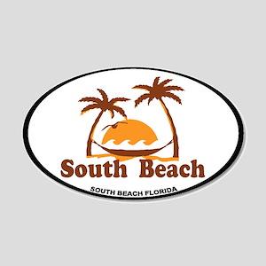 South Beach - Palm Trees Design. 20x12 Oval Wall D