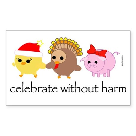 Celebrate Without Harm Rectangle Sticker