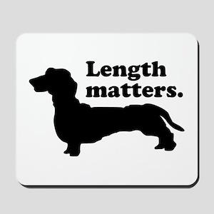 Length Matters Mousepad