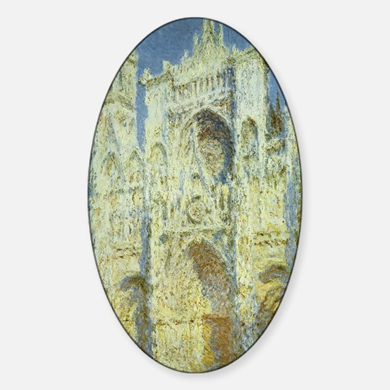 Rouen Cathedral by Claude Monet Sticker (Oval)