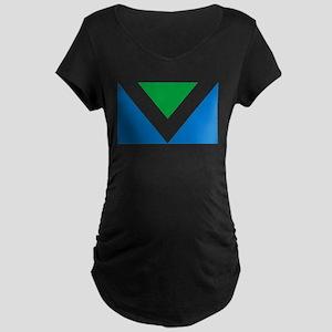 Vegan Flag Maternity T-Shirt