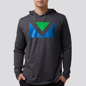 Vegan Flag Mens Hooded Shirt