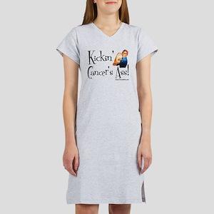 Kickin' Cancer's Ass! Women's Nightshirt