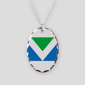 Vegan Flag Necklace Oval Charm