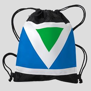 Vegan Flag Drawstring Bag