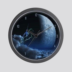 Knight in ghostly armor Wall Clock