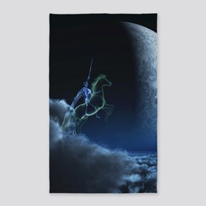 Knight in ghostly armor 3'x5' Area Rug