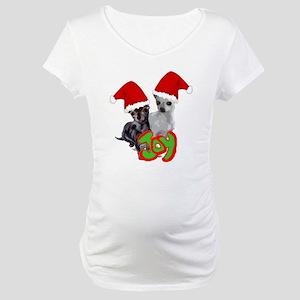 Chihuahua Christmas Maternity T-Shirt