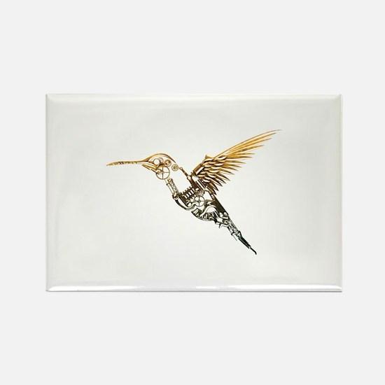 Industrial Hummingbird Rectangle Magnet
