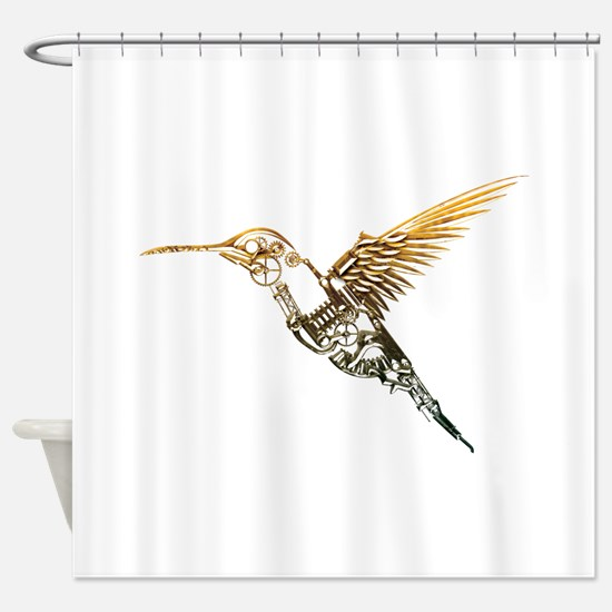 Industrial Hummingbird Shower Curtain