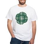 Celtic Four Leaf Clover White T-Shirt