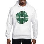 Celtic Four Leaf Clover Hooded Sweatshirt