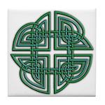 Celtic Four Leaf Clover Tile Coaster