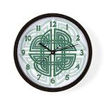 Celtic Four Leaf Clover Wall Clock