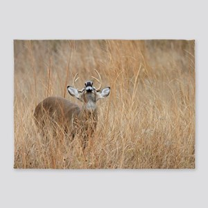 Buck in the Grass 5'x7'Area Rug