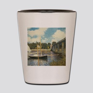 Highway Bridge by Claude Monet Shot Glass