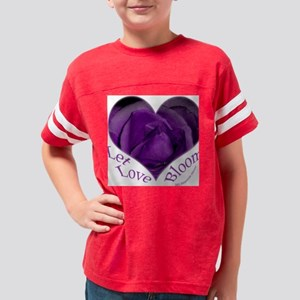purple rose heart, tote bag Youth Football Shirt