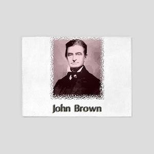 John Brown w text 5'x7'Area Rug