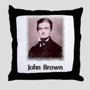 John Brown w text Throw Pillow