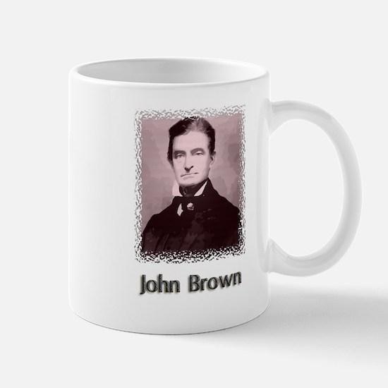 John Brown w text Mug