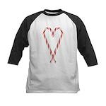 Christmas Candy Cane T-Shirt Kids Baseball Jersey