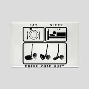 Eat Sleep Drive Chip Putt Golf design Rectangle Ma
