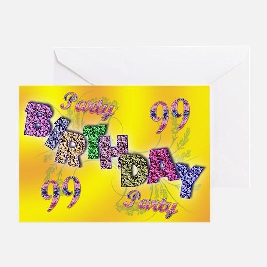 99th Birthday party invitation Greeting Card