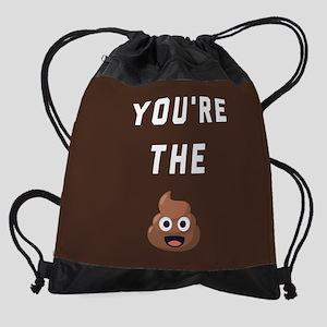 You're The Shit Emoji Drawstring Bag