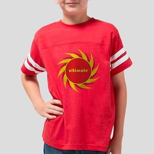 FLAMING DISC 1 black final Youth Football Shirt