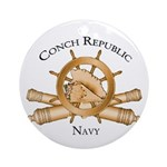 Official Conch Republic Navy Ornament (Round)