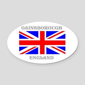 Gainsborough England Oval Car Magnet
