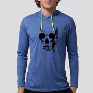 skull-face_bl Mens Hooded Shirt