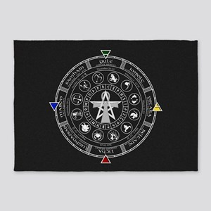 Wheel of the Year Zodiac Sabbats 5'x7'Area Rug
