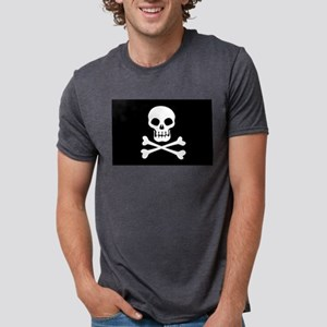 Pirate Flag Skull And Crossbones Mens Tri-blend T-