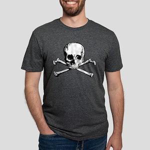 Crossbones Mens Tri-blend T-Shirt
