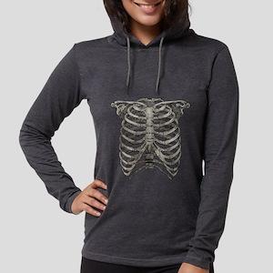 ribcage_grey Womens Hooded Shirt