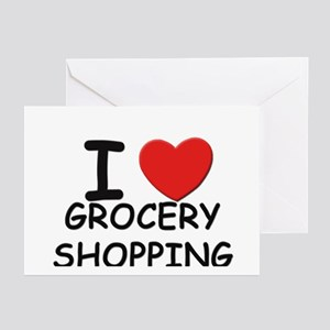 I love grocery shopping Greeting Cards (Package of