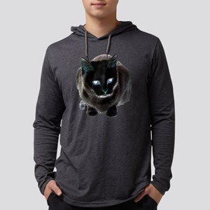 bl_blue-black-cat Mens Hooded Shirt