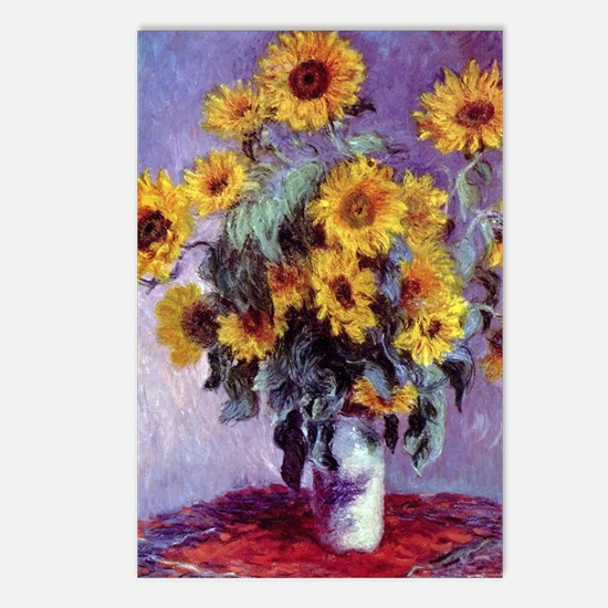 Bouquet of Sunflowers by  Postcards (Package of 8)