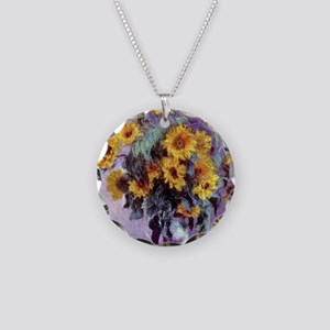 Bouquet of Sunflowers by Cla Necklace Circle Charm